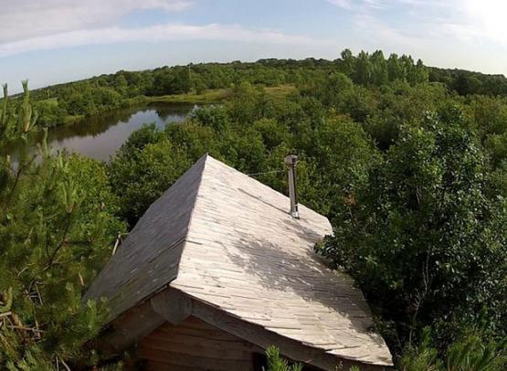 au dessus de la cabane trappeur