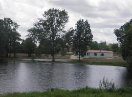 Vue de l'étang Maison bleue