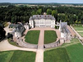 Chateau de Montgeoffroy - vue aérienne