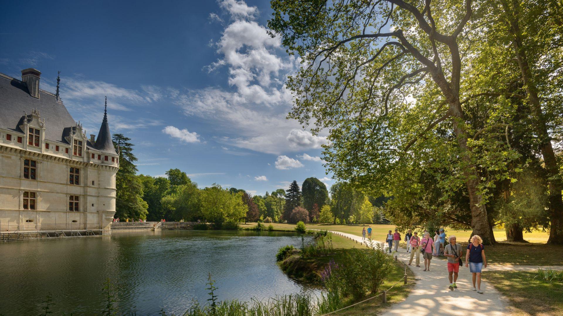 Die Renaissance von Schloss Azay-le-Rideau, Das Loiretal, ein ...
